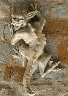 Have a look at this Gargoyle Wall Ornament Horntail page from the Gargoyle Ornaments department at Marble Inspiration