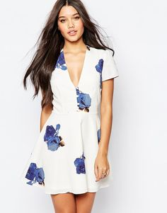 Oh My Love | Oh My Love Skater Dress with Buttons and Back Detail at ASOS