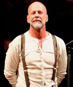 The Hottest [Straight] Bald Man in all of History of Mankind: Bruce Willis. but moreso, without the white beard. I think it ages him. Didn't even recognize him! Bald Men With Beards, Bald With Beard, Bald Man, Beard Love, Grey Beards, Best Beard Styles, Hair And Beard Styles, Goatee Styles, Bald Men Style