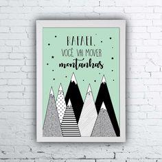 Mover montanhas, quadros infatis, quarto de bebê, quarto de criança, quadros divertidos, quadros personalizados, quadrinhos personalizados