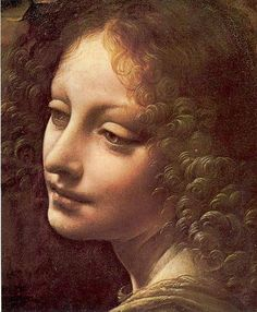 Detail - da Vinci, Madonna of the Rocks, c.1486