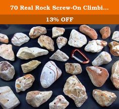"""70 Real Rock Screw-On Climbing Wall Hand Holds. Each hold is hand crafted from 100% natural southwest desert rainbow sandstone just the way Mother Nature created it. These hand holds are not just realistic, they are """"REAL"""". They are as close as you can get to a real outdoor climbing experience. Real rock hand holds are strong, long lasting, increase climbing confidence, and build real finger strength. They are great for both adults and children. I personally select, hand craft, and…"""