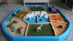 Dear Zoo sensory tuff spot - a perfect Dear Zoo preschool touch and feel tuff tray activity. This Dear Zoo activity for toddlers and EYFS includes sensory elements such as lentils, artificial grass and cotton wool. Lots of fun! Dear Zoo Activities, Eyfs Activities, Nursery Activities, Infant Activities, Learning Activities, Spring Activities, Outdoor Activities, Teaching Ideas, Tuff Tray Ideas Toddlers