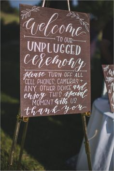 Unplugged wedding ceremony sign. These are becoming so popular with all of my brides and their photographers are always so happy about it! /weddingchicks/