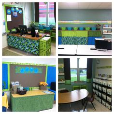 Classroom decorations with bright colors