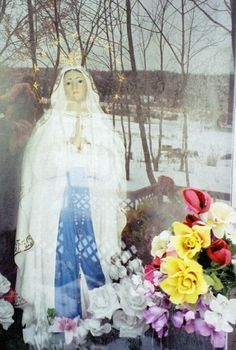* Did Our Lady of Lourdes stepped out of the Chapel, at Marmora Shrine? * (This picture is old.)