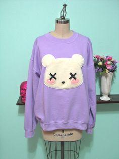 Deaddy Bear - Dead Teddy Bear Oversized Sweatshirt. $45,00, via Etsy.