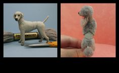 Flocked Art poodle before and after photos by Paizley Pawz.