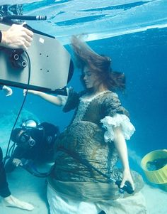 Keira Knightley behind the scenes as Elizabeth Swann in Pirates of the Caribbean: The Curse of the Black Pearl - 2003