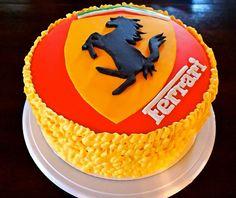 #Ferrari #Cake #homemade Ferrari Cake, Birthday Ideas, Birthday Cake, Baking Cakes, Homemade Cakes, No Bake Cake, F1, Cupcakes, Desserts