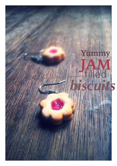 Polymer clay 'jam' biscuits