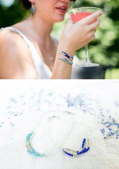 DIY: seed bead bracelet