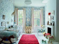 Miranda Brooks Country Home- children's room so pretty. Colour