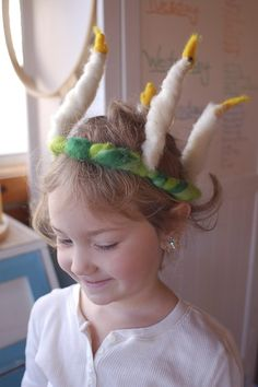 Santa Lucia Crown - DIY for little ones instead of candles