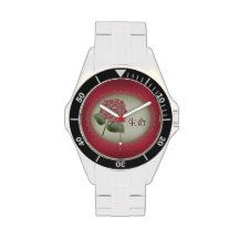 Pink hydrangea bouquet watches