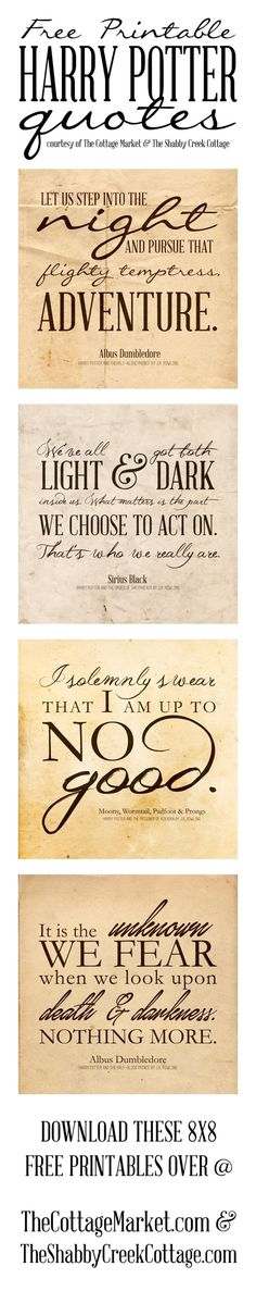 Free Printable Harry Potter Quotes by natalia