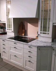 Modern Kitchen Design, Interior Design Kitchen, Kitchen Decor, Kitchen Ideas, New Kitchen Inspiration, Plywood Desk, Living Room Partition, Kitchen Cabinets, Kitchen Appliances