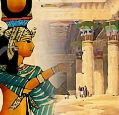 Lydia Anneli Bleth: BELLA DONNA digital art - Ägypten 2