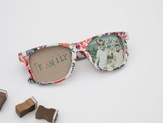 DIY Sunglasses Photo Frames.
