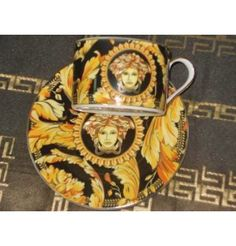 Versace style Coffee, Tea Set- 12 pieces,  Fine Porcelain for 6 persons      Items on the picture is what you receive.      ALL THIS COMES IN SPECIAL LUXURY BOX!!