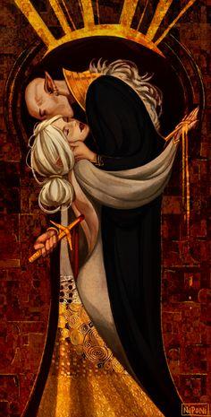 Dragon Age Klimt-like