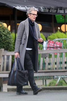 Peter Capaldi in London Dec 22, 2014....looking pretty fly...