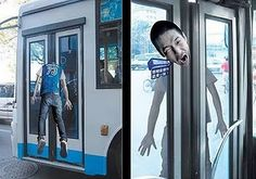 Street Marketing sur un bus Bus Advertising, Out Of Home Advertising, Good Advertisements, Clever Advertising, Street Marketing, Guerilla Marketing, Email Marketing, Bus Art, Funny Ads