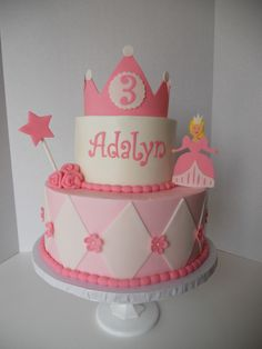 I made this cake for a 3 year old little girl named Adalyn (who has leukemia.) This was my first Icing Smiles cake and the experience was BEYOND REWARDING. Please check them out at Icingsmiles.com and sign up to be a baker if you can :)