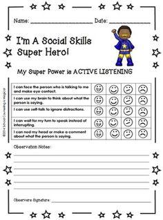 SOCIAL SKILLS SUPERHEROES PACKET-SET #1 - TeachersPayTeachers.com