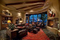 Windywalk Estates - traditional - living room - phoenix - Mooney Design Group, Inc.