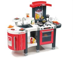 This Tefal Super Chef Kitchen is perfect for little chefs to experiment in.  With its many features and accessories there will be none stop culinary creations coming out of this high end kitchen. #kidstoys #kitchens #playkitchens