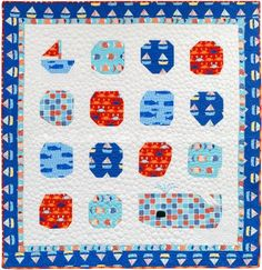 Come Sail Away Free Pattern feat. Don't Be Crabby fabric by Laurie Wisbrun