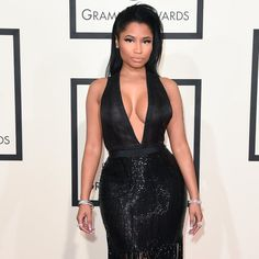 """Pin for Later: Is Nicki Minaj Pregnant? Watch the Rapper Call Meek Mill Her """"Baby Father"""""""