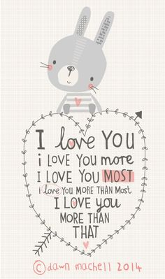 We say this all the time but I usually win with I love you more than infinity