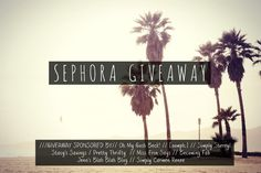 Win a $300 Sephora Gift Card!!! Enter the #Sephora gift card giveaway at PrettyThrifty.com #makeupgiveaway