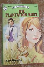 Vintage Harlequin Romance, 1678, The Plantation Boss PB Anne Hampson