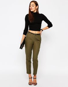 ASOS+Linen+Cigarette+Trousers+with+Belt