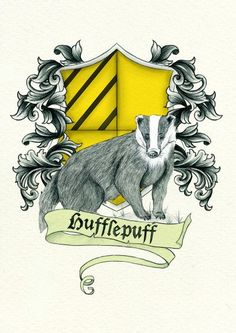 Hufflepuff Source by LULUhussi Harry Potter Tumblr, Harry Potter Drawings, Harry Potter Universal, Harry Potter World, Hufflepuff Funny, Hufflepuff Pride, Hogwarts Crest, Ravenclaw, Magia Harry Potter