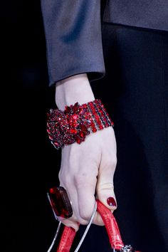 Giorgio Armani at Milan Fall 2013 (Details)