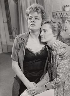 """Shelley Winters and Lenka Peterson in """"Girls of Summer"""" Theatre Plays, Broadway Theatre, Shelley Winters, West End, Summer Girls, Golden Age, Behind The Scenes, Magic, Vintage"""