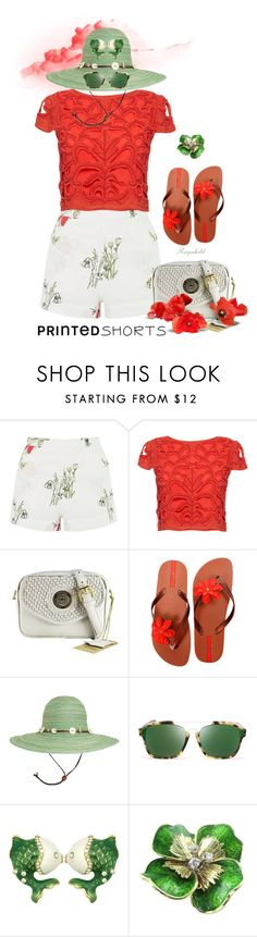 """""""Printed Shorts"""" by ragnh-mjos ❤ liked on Polyvore featuring Topshop, Alice + Olivia, IPANEMA, Sunday Afternoons, Christian Dior, contest, outfit and printedshorts"""
