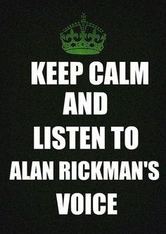 keep calm #alanrickman #ripalanrickman
