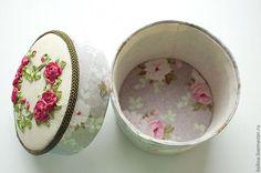 Шкатулка с вышивкой - Ярмарка Мастеров - ручная работа, handmade