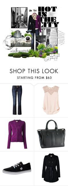 """Hot in the City ♥♥"" by lili333 ❤ liked on Polyvore featuring Mavi, Rebecca Taylor, Burberry, GiGi New York, DC Shoes, ONLY, HELEN RUTH and Katie"