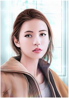 Korean Girls Cutie,Beautiful [[ Digital Painting ]] Artist : FB : @JakkreeJantakad