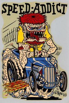 1950's Hot Rod Comic Art