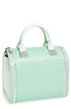 Pastel is really in for spring. Love the mint.  Ted Baker London Leather Satchel available at #Nordstrom