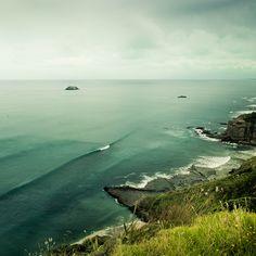 Maori Bay & Muriwai Beach, Auckland, New Zealand - Love It! New Zealand Landscape, Auckland New Zealand, Sunny Beach, Ralph Waldo Emerson, That Way, Wonders Of The World, Breakup, Landscape Photography, Digital Photography