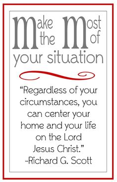 Christ Centered Home- handout for LDS young women lesson. Would go great with a lot of lessons, but very appropriate for the December lesson on building a Christ-centered home. Lds Quotes, Uplifting Quotes, Gospel Quotes, Qoutes, Funny Quotes, Lds Young Women Handouts, Young Women Lessons, Young Women Quotes, Young Women Activities