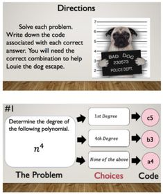 Degree Of A Polynomial Bad Dog Breakout Google Classroom